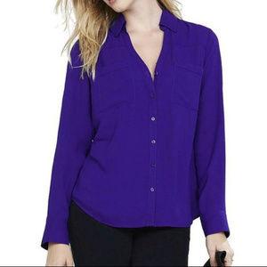 Express Convertible Sleeve Portofino Shirt - Grape